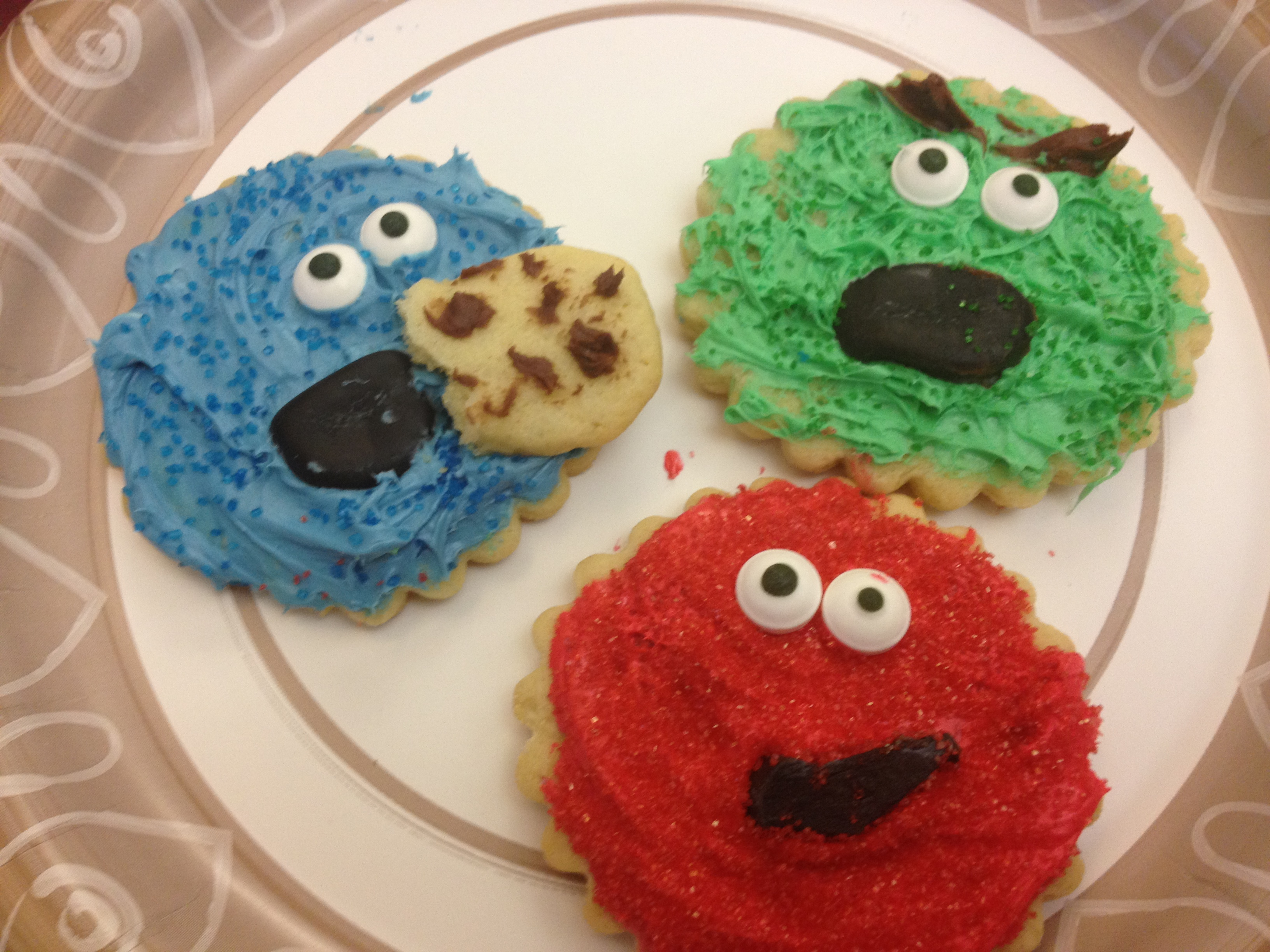 Cookies decorated by Eagle Ambassadors.  Look how talented they are!