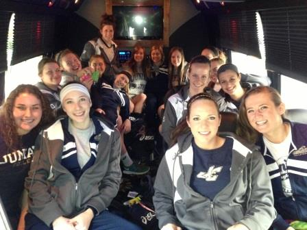 Best surprise at 8am? A PARTY BUS!! Shout out to coaches Steph Strauss and Heather Pavlik for treating us good.
