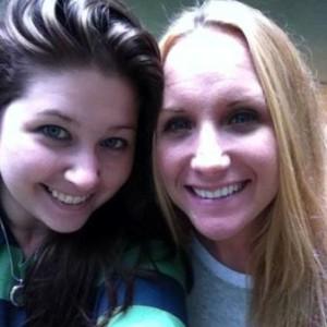 My sister Kristi and me