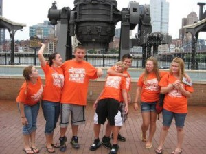 Some of the youth group in Pittsburgh