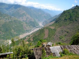 A picture of the valley and a Lisu village in Yunnan Province, near the Burmese border.