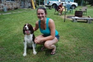 Me and my 2 year old Springer Spaniel at my cabin in Elk County, PA.