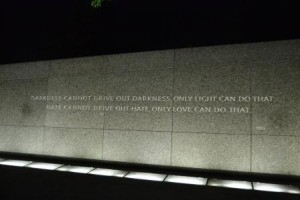 A part of the MLK monument - a very moving place