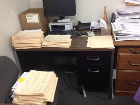 Some of the applications that are almost ready for counselors to read.