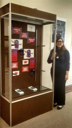 A Teen Dating Violence Awareness display at the Huntingdon library that I put together