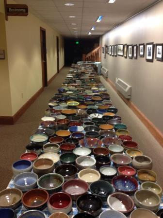 "The tables of ""empty"" bowls."