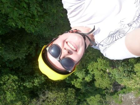 More than 300 feet in the air...and I was even brave enough to hang upside down!