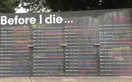 Juniata College's Before I Die Wall