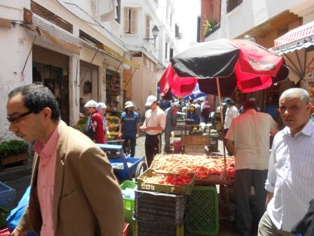 Street vendors in Casablanca