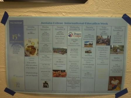 International Week Schedule