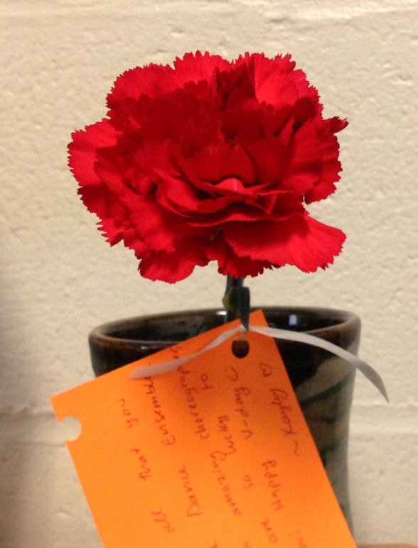 An example of student made valentines