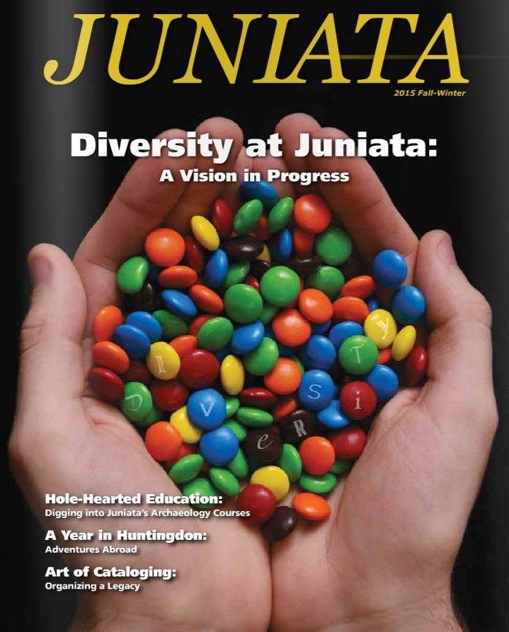 The cover of this month's Juniata magazine