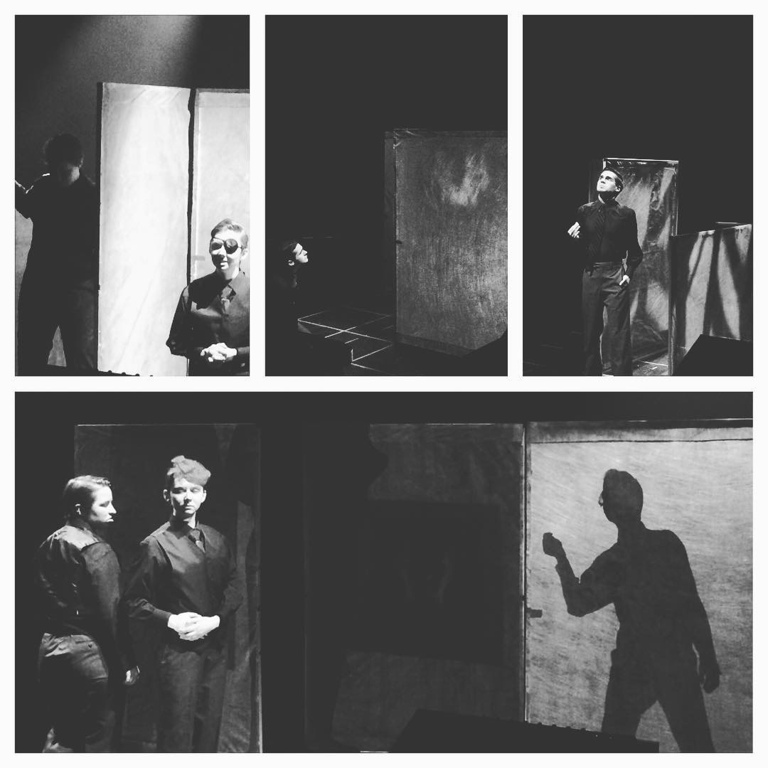 "Juniata College actors rehearse the upcoming play ""Hamlet"""