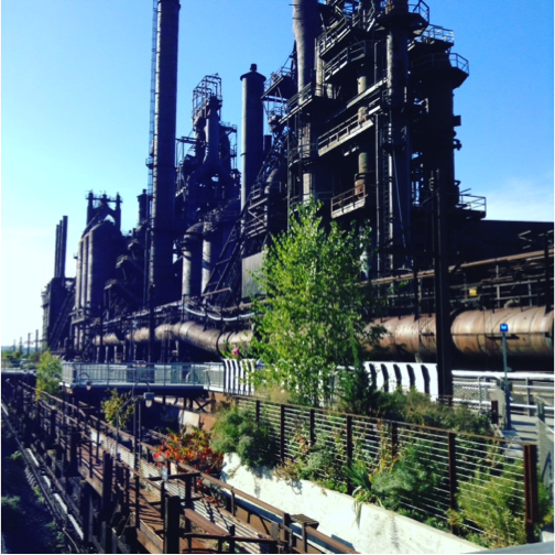 Figure 1:The SteelStacks of Behtlehem.  At the height of WWII, these forges employed 32,000 people.  They now stand cold and decrepit, relics of a bygone era.