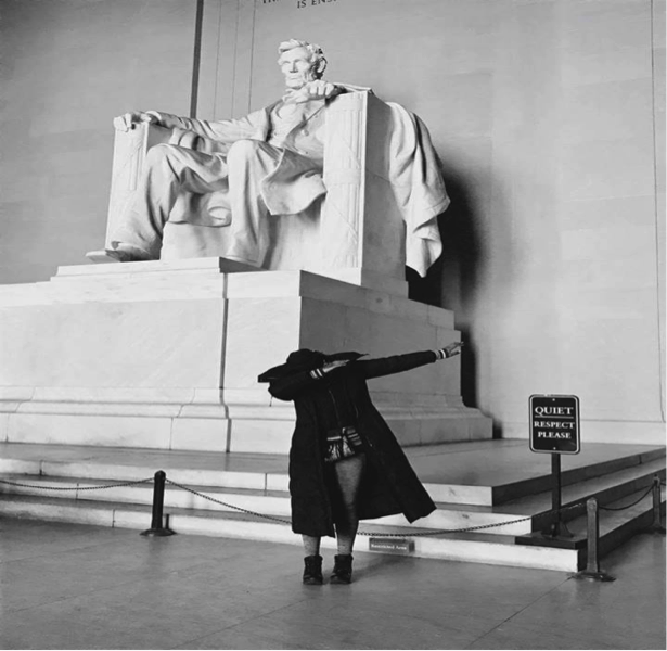 Figure 1: Dabbing with Abraham Lincoln