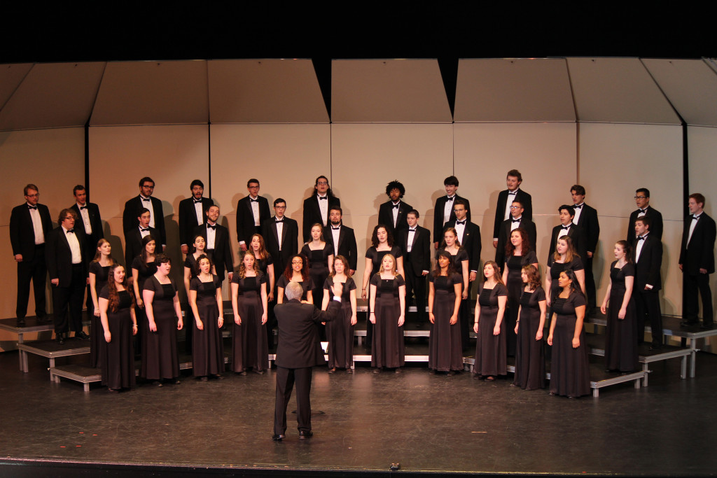 The Juniata College Concert Choir performs around the world every year.  They learn songs in the language of the country they tour in.