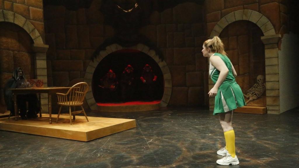 "Me and Cosimo Sciortino ('20) performing in ""She Kills Monsters"" at Juniata College."