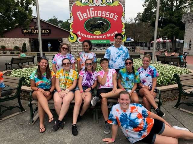 2017 Big Brothers Big Sisters Inbound Retreat Group at DelGrosso's Amusement Park