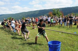 Traditions within traditions! The annual Mountain Day tug-of-war.