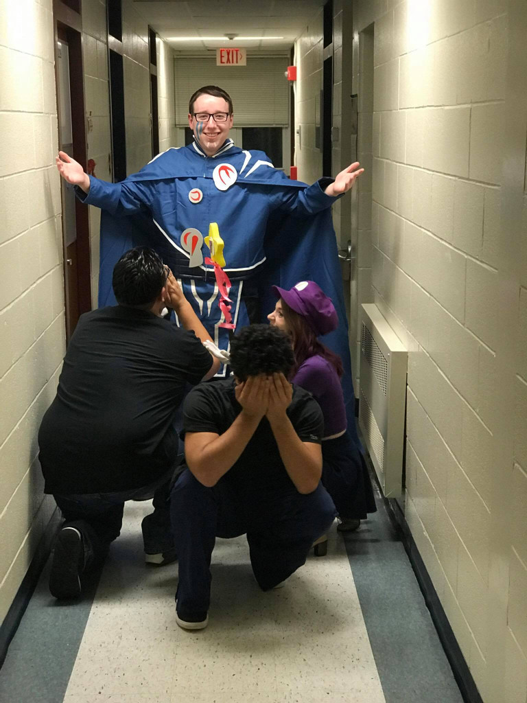Hallway costume pictures - a college classic